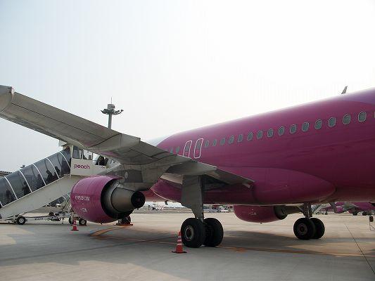 ピーチ飛行機で大阪神戸へ